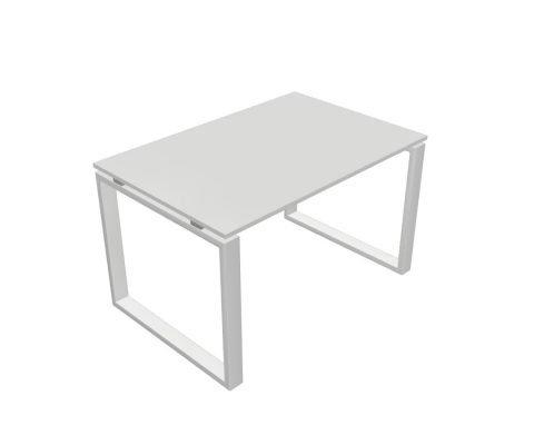 scrivania da gamba chiusa bianco e piano bianco